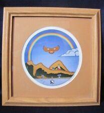 SIGNED Ken Syrette Native American Indian Framed & Matted Print
