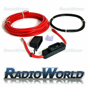 High Quality 5M x 6 AWG 16mm2 Power Cable with 100A Maxi Fuse Holder Wiring Kit