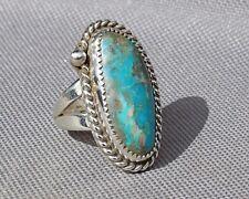 Ladies Sterling ring Kingman turquoise mine  Jim Saunders, RG-623