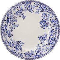 NEW! Johnson Brothers DEVON COTTAGE Dinner Plates Blue White Floral SET OF 4
