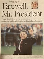 Death of 40th US President Ronald Reagan June 06 2004 Collectible Newspaper GOP