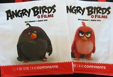 Angry Birds 2x different promotional  tote bags . Reusable multipurpose bag