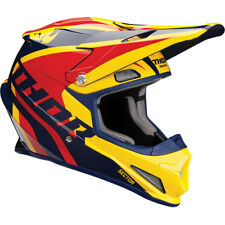 CASCO MOTO CROSS ENDURO THOR SECTOR RICOCHET NAVY YELLOW TAGLIA L