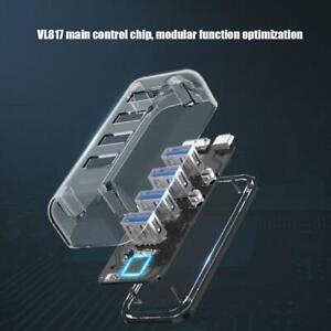 Type A Docking Station HUB USB3.0 Micro B/M 5Gbps Transparent for PC Desktop Hub