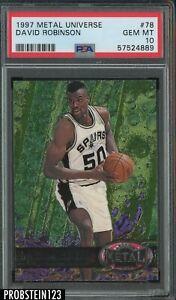 1997-98 Metal Universe #78 David Robinson San Antonio Spurs HOF PSA 10