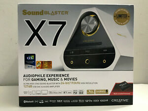 Sound Blaster X7 White Limited Edition 127dB 24-bit 192kHz High-Res External Amp