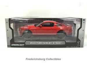 GREENLIGHT 1:18 2010 SHELBY GT500 LTD ED - RED W/ WHITE STRIPES - NIB