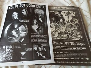 The Cramps - 2 x 1998 A4 full page magazine poster adverts / photos