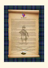 CLAN MACLEOD -Clan History, Tartan, Crest, & Castle MOUNTED PRESENTATION