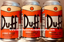 3 Cans of Duff 'Beer' Homer Simpson's Energy Drink American Import Boston Americ