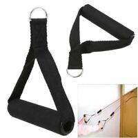 Black Nylon Tricep Rope Cable Handle Cable Crossover Gym Machine Attachment Resi
