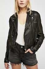 New Free People Perforated Leather Motorcycle Jacket Size Small $585