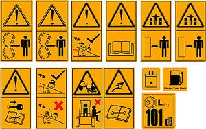 DUMPER SAFETY WARNING DECAL SET
