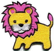 Lion cat puma jaguar tiger cheetah animal cute kids applique iron-on patch S-744