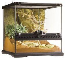 Reptile Glass Terrarium Frog Iguana Cage Snake Lizard Habitat Home Waterproof