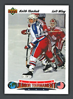 1991-92 UPPER DECK NHL HOCKEY CARD #698 KEITH TKACHUK ROOKIE MINT