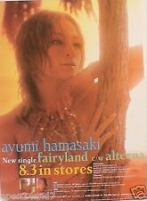 "AYUMI HAMASAKI ""FAIRYLAND & ALTERNA"" JAPANESE PROMO POSTER - J-Pop Superstar"