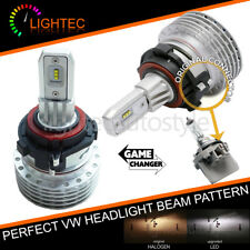 VW GOLF MK6 MK7 FANLESS H7 LED HEADLIGHT BULBS KIT CANBUS ERROR FREE PLUG & PLAY