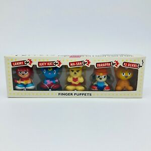 PARAPPA THE RAPPER Um Jammer Lammy All Star 5 Finger Puppets Set Japan Sony
