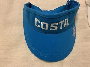 """Costa Del Mar Golf Visor One Size / XL 3"""" Bill / NWT / Blue"""