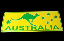 Australia Souvenir Metal Licence Number Plate Australia Map State Cities Animals