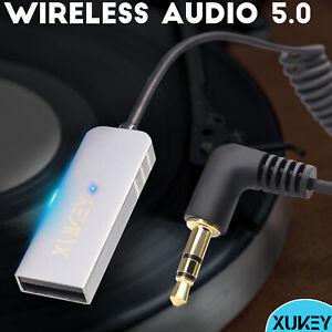 Auto 3.5mm Klinke Audio Bluetooth Adapter KFZ Receiver AUX Kabel Empfänger Musik