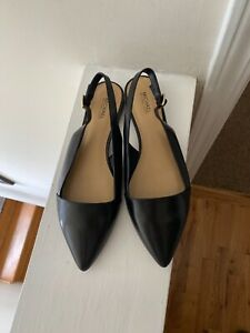 MICHAEL Michael Kors Woman's Claudia Slingback Flats leather Black Size 8M