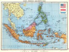 INDONESIA. East Indian Archipelago. Dutch East Indies. Sarawak Sabah 1938 map