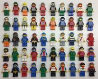 5 LEGO RACE CAR DRIVER MINIFIGS LOT racecar racing random bulk figures