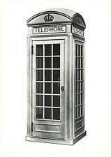 Vintage 1980s Postcard, Telephone Kiosk by Designed Giles Gilbert Scott 1926 IR7