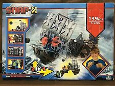 Pirate Ship & Pirate Dock Adventures 2 in 1 Construction Set SNAP-x NEW