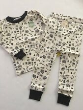 Burts Bees Baby Boy Girl 2 Piece Pajamas Size 12 Months Ivory Cozy Winter
