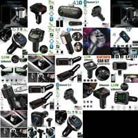 Wireless Bluetooth Handsfree Car FM Transmitter MP3 Dual USB Kit Charger Pl X1J0