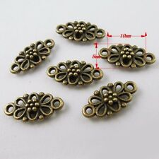 36865 Vintage Bronze Alloy Hollow Flowers Pendants Charms Craft Findings 30pcs