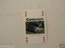 JEEP DODGE CHRYSLER CAR CONCEPT ,PLAYING CARD CHRYSLER GRAND VOYAGER