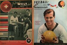 Rarität !!! 2 Original Hefte Fussball Weltmeisterschaft 1954 & 1958