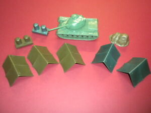 TENTS TANK ACCESSORIES ARMY 1950's/1960's MARX MPC? lot military toy soldiers