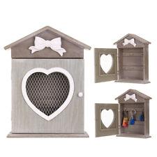 Wooden Wall Mounted Key Box Cupboard Cabinet Rack Holder Storage Box w/ 6  @new