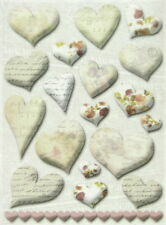 Rice Paper for Decoupage, Scrapbooking Sheet Heart Decorations