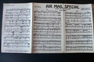 BENNY GOODMAN JIMMY MUNDY AIR MAIL SPECIAL PIANO CONDUCTOR SHEET MUSIC 1941 USA