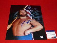 wrestler HACKSAW JIM DUGGAN  wwf wwe signed PSA/DNA 11x14   photo