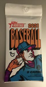 2021 TOPPS HERITAGE MLB BASEBALL Auto/Relic/Cut/Patch HOT PACK Trout? Tatis Jr.?