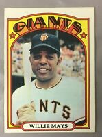 1972 WILLIE TOPPS 49 MAYS GIANTS SAN FRANCISCO CARD HOF BASEBALL EX-MT