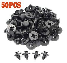 50Pcs 8mm Plastic Rivet Fastener Mud Flaps Bumper Fender Push Clips For Nissan
