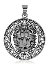 925 solid Sterling Silver new Celtic Lion pendant