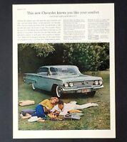 1960 Chevrolet Bel Air Advertisement Sport Coupe Chevy Car Chess  Vtg Print AD