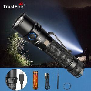 TrustFire T11R 1800LM LED linterna táctica tipo C recargable súper brillante ES