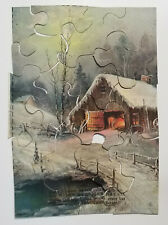 Weber Pullman Bread Advertising Jigsaw Puzzle Snow Covered Barn