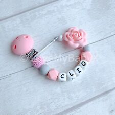 Personalised DUMMY CLIP Silicone| Baby Shower Gift|Name Soother Chain|MAM Clip