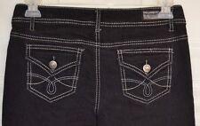 Earl Jeans Women's, Junior Black Size 11 Thick Stitch Low Rise